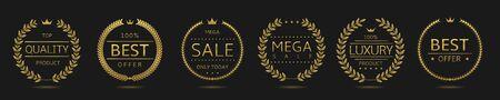 Best movie badge set 向量圖像