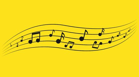 Music notes. Music notes on staves, Abstract musical background