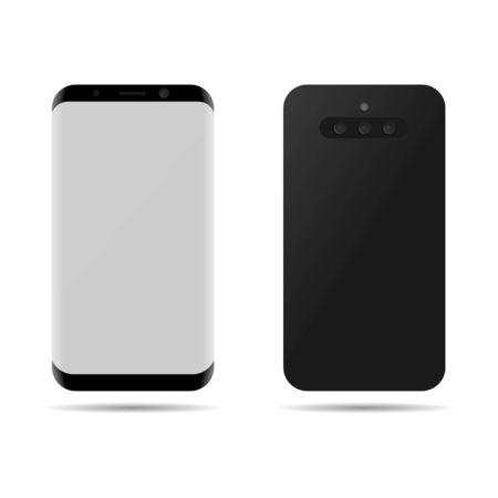 Triple camera phone. Smartphone with three cameras