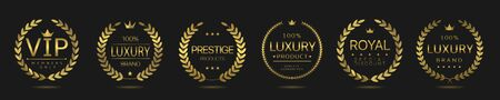Luxury and vip labels Vector Illustration