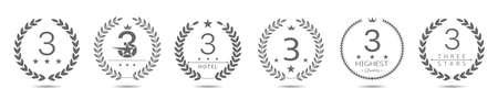 Best three stars hotel wreath labels 일러스트