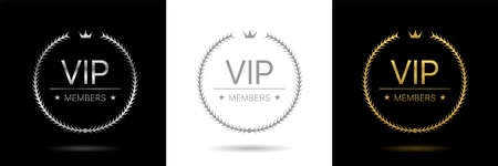 VIP members only labels