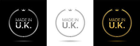 Made in United Kingdom wreath icons