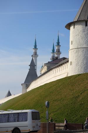 Mosque of Kul-Sharif and the Kremlin Kazan Republic  Tatarstan Russian Federation