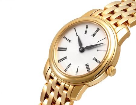 Close up of a golden watch