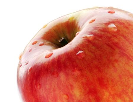Red apple on white. Macro 版權商用圖片
