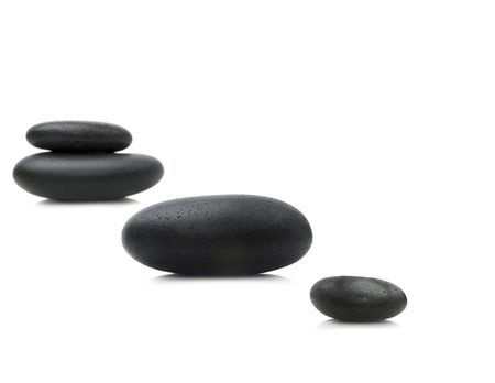 Zen stones isolated on white background Banque d'images