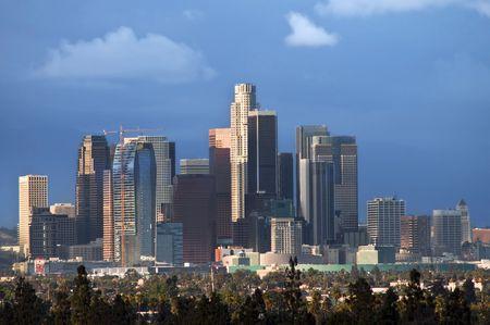 City-scape of downtown Los Angeles Фото со стока