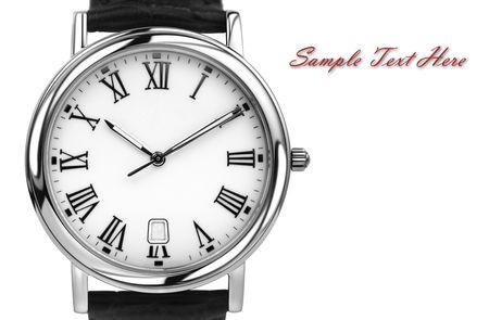 White gold watch With lots of copyspace Stock Photo