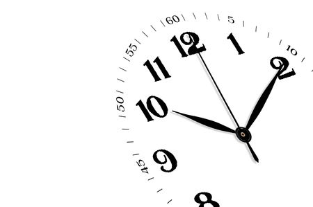 White clock isolated, time concept Stock Photo