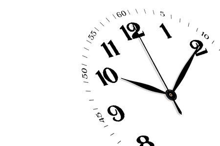 White horloge isolé, le temps concept