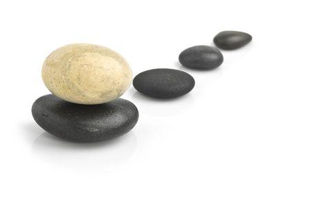 Zen pierres isolées. spa background