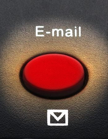 Macro of an email button on keyboard Banque d'images