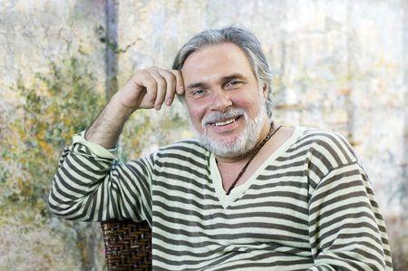 Portrait d'un homme mûr heureux Banque d'images