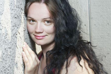 Portrait d'une belle jeune femme Banque d'images