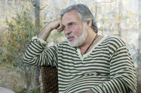 Portrait d'un homme mûr Banque d'images
