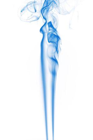 Fumée isolé sur fond blanc