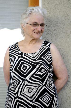 Portrait of a happy senior lady Banque d'images