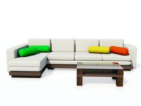 Modern couch isolated on white Stock Photo - 2706904
