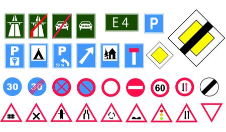 opposing: Europe road signs