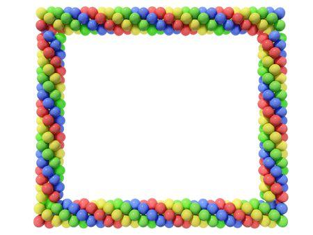 Frame of ballons Stock Photo