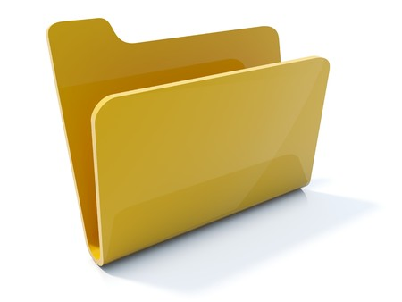 Empty yellow folder icon isolated on white Stock Photo