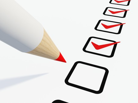 Checklist with pen isolated on white Stock Photo - 4149530
