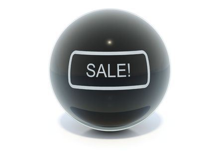 balck: Balck glossy sale icon Stock Photo