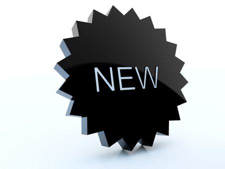 New black label icon Stock Photo - 4830083