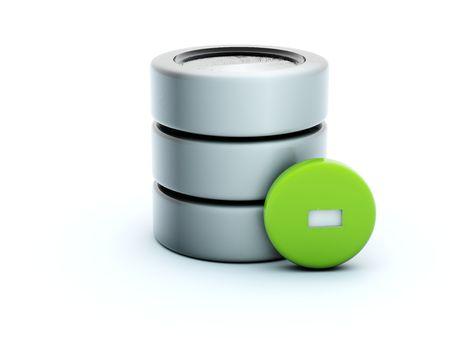 3d delete storage icon isolated on white Stock Photo - 5192634