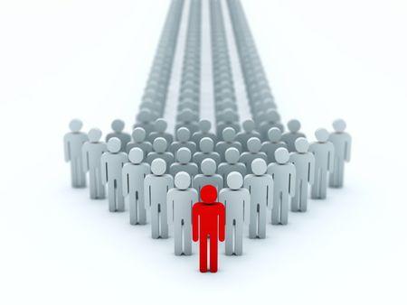 anonyme: Fl�che de 3d personnes isol�es sur blanc  Banque d'images