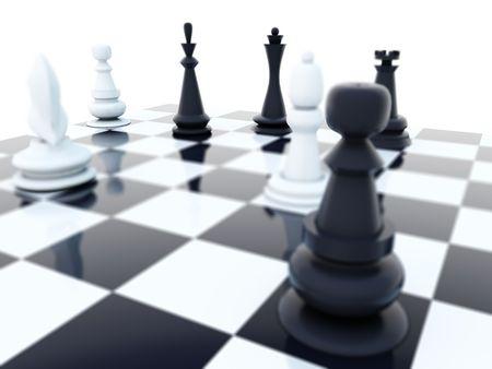 tablero de ajedrez: Ajedrez de blanco y negro