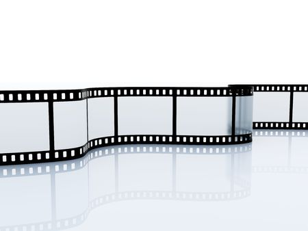 35mm empty film srip isolated on white photo