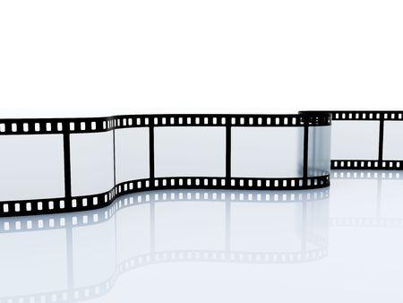 Roll film: Srip pel�cula de 35 mm vac�o aislado en blanco