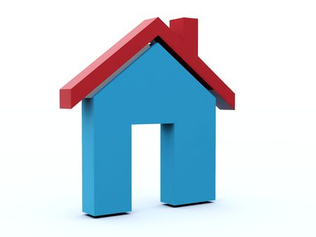 Home icon from blue and red series Stock Photo - 6039730