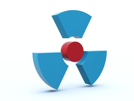 Radiation icon from blue and red series Stock Photo - 6039731