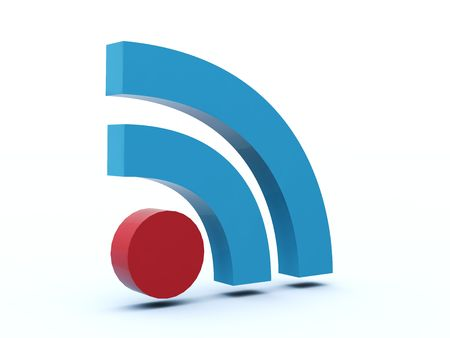 syndicated: Rss icon from blue and red series