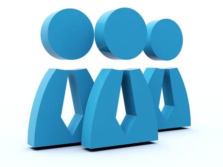 Groupe de personnes icône de série bleue et rouge Banque d'images