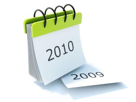 calendar icon: 2010 calendar icon isolated on white Stock Photo