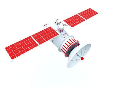 Red satellite