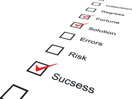 work popular: Checklist with red marks isolated on white Stock Photo