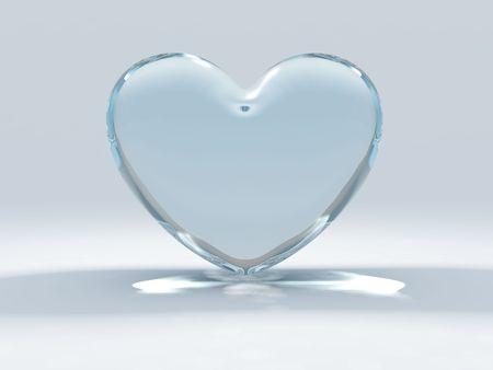shinning: Heart from glass