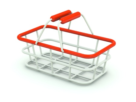 Hand shopping cart isolated on white. Red series Stock Photo - 8421312