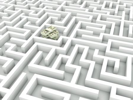 Cash in the maze photo