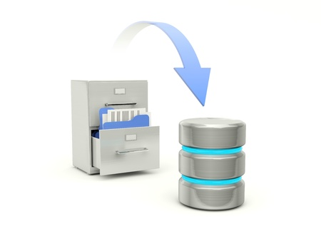 backups: Copying files from archive to data base