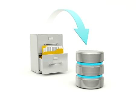 Copia de archivos desde el archivo de base de datos