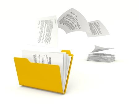 copying: Copying files to folder Stock Photo