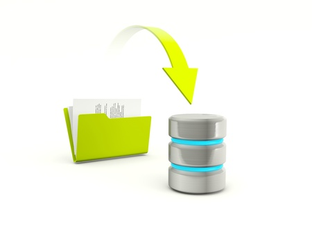 Copying files from folder to database Stock Photo - 12447558