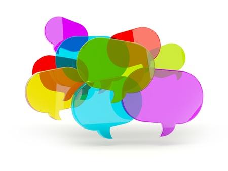 vélemény: Beszéd buborékok üveg elszigetelt fehér