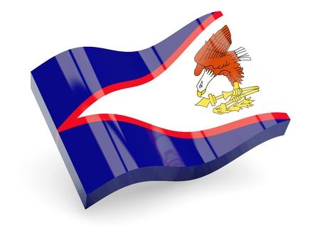 samoa: 3d flag of American Samoa isolated on white Stock Photo